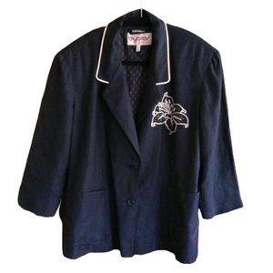 Vintage 90s Italian Byblos embroidered blazer
